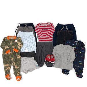Baby Boy Clothing Lot/Bundle Size 3 & 3-6 Month